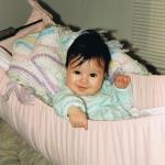 Baby in swing 1